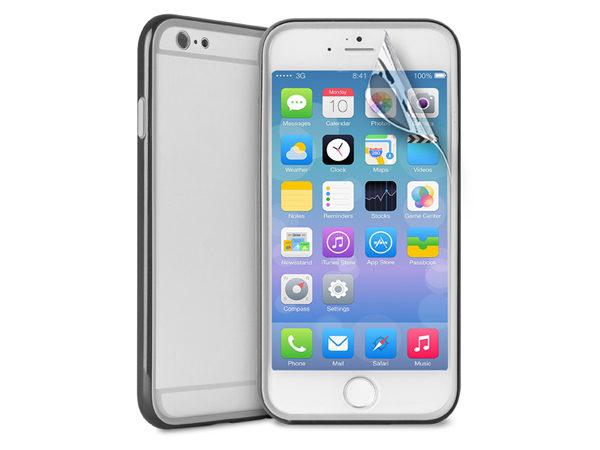 33130bda59a6 Προστατευτικό κάλυμμα PURO Bumper   μεμβράνη προστασίας Apple iPhone 6 Plus  μαύρο