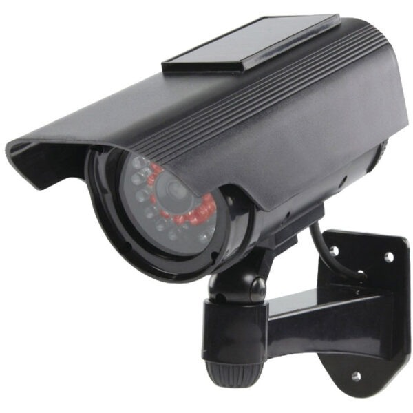dummy 1 bullet camera with solar ir led keepmesafe.gr
