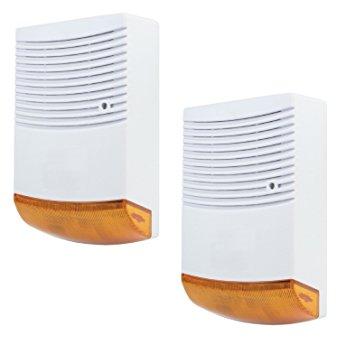 dummy siren alarm orange with flashing led keepmesafe.gr