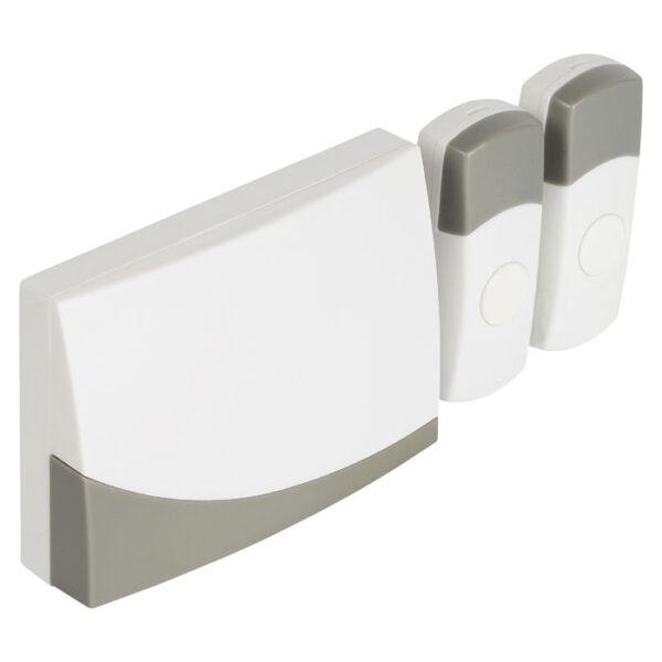wireless doorbell ασύρματο κουδούνι πόρτας με 2 πομπούς button keepmesafe.gr