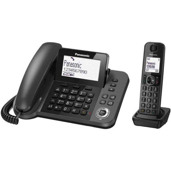 Σταθερό Ψηφιακό Τηλέφωνο Panasonic KX-TGF310EXM Μαύρο + Ασύρματο Ψηφιακό Τηλέφωνο
