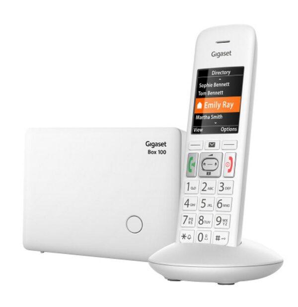 Ασύρματο Ψηφιακό Τηλέφωνο Gigaset E370 Λευκό με έγχρωμη μεγάλη οθόνη