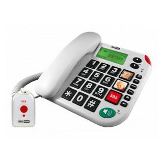 Σταθερό Τηλέφωνο Maxcom KXT481 με Μεγάλα με κουμπί SOS Πλήκτρα,Οθόνη