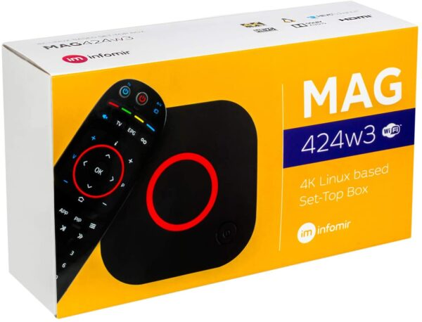 MAG424W3 Dual WiFI 2Ghz-5Ghz UHD IPTV set-top box with 4K support