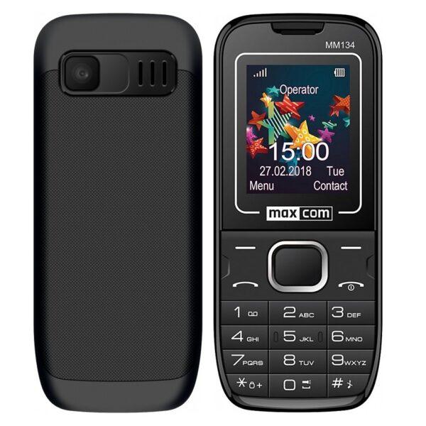 Maxcom MM134 (Dual Sim) 1,77με Κάμερα, Φακό, Ανοιχτή Ακρόαση και Ραδιόφωνο Μαύρο