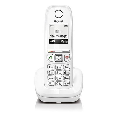 Ασύρματο Ψηφιακό Τηλέφωνο Gigaset AS405 Λευκό χαμηλή ακρινοβολία ανοιχτή ακρόαση S30852-H2501-K102