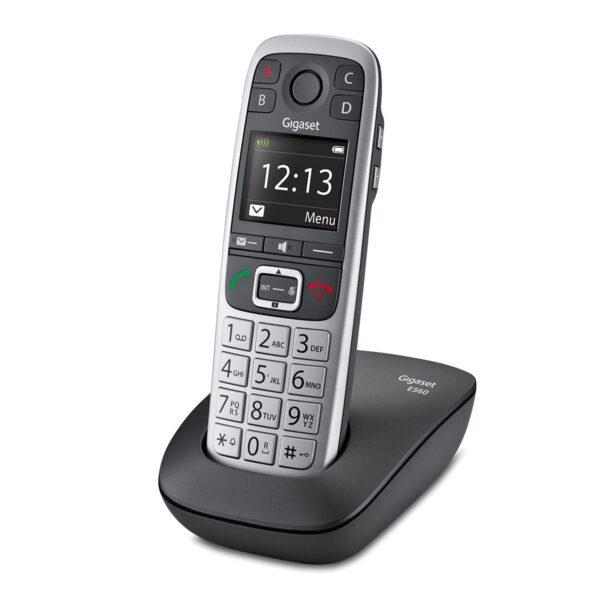 Ασύρματο Ψηφιακό Τηλέφωνο Gigaset E560 με 4 SOS Αριθμούς, Μεγάλα Πλήκτρα, Πλήκτρο Extra Έντασης ECO Γκρί S30852-H2708-K101