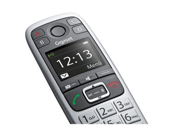 Ασύρματο Ψηφιακό Τηλέφωνο Gigaset E560 με 4 SOS Αριθμούς, Μεγάλα Πλήκτρα, Πλήκτρο Extra Έντασης ECO Γκρί S30852-H2708-K101.
