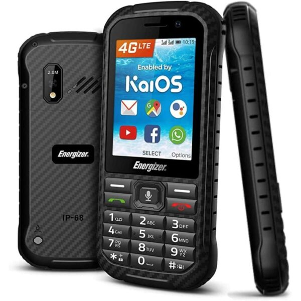 Energizer Hard Case H280S 4G Dual Sim 512MB-4GB 2.8 KaiOS 2000 mAh, Bluetooth, Camera,ΑΔΙΑΒΡΟΧΟ ΚΙΝΗΤΟ ΤΗΛΕΦΩΝΟ IP68 Μαύρο