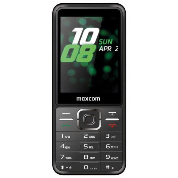 Maxcom MM244 2.8 με Bluetooth, Ραδιόφωνο, Κάμερα, Φακό και Μεγάλα Γράμματα. Ασημί